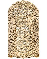 Aurelie Bidermann - Metallic Large 'vintage Lace' Cuff - Lyst