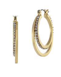 BCBGeneration - Metallic Double Hoop Earrings - Lyst