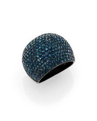 Michael Kors | Blue Brilliance Statement Montana Paveacute Dome Ring | Lyst