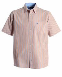 Double Two | Orange Stripe Classic Fit Classic Collar Shirt for Men | Lyst