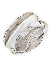 MICHAEL Michael Kors - Medium Bedford Tassle Convertible Shoulder Bag Optic White - Lyst
