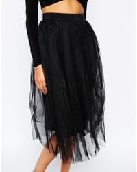 Boohoo | Black Boutique Sofie Double Layer Tulle Skirt | Lyst