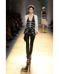 Nicole Miller - White Embroidered Cardigan - Lyst