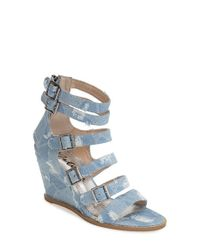 Matisse | Blue 'Honor' Wedge Sandal | Lyst