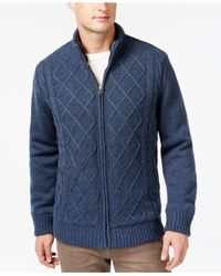 Tricots St Raphael | Blue Cable-knit Full-zip Sweater Jacket for Men | Lyst