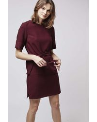 TOPSHOP - Purple Pocket Shift Dress - Lyst