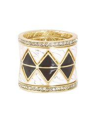 House of Harlow 1960 - Metallic Reflector Ring Stack - Lyst