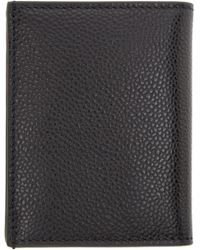 Thom Browne | Black Pebbled Leather Bifold Wallet for Men | Lyst