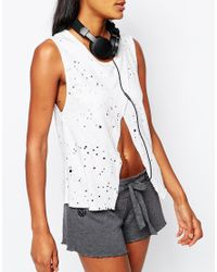 Blue Life | White Ripped Side Slit Tank Top | Lyst