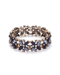 Forever 21 | Blue Faux Stone Stretch Bracelet | Lyst