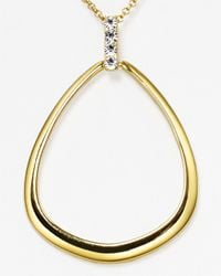 T Tahari - Metallic Pave Teardrop Pendant Necklace 18 - Lyst