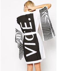 This Is A Love Song - White Vice Kimono With Slit Sleeves - Lyst