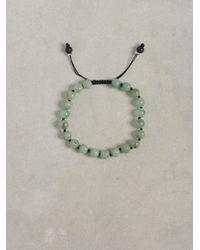 John Varvatos | Black Chrysoprase Bead Bracelet for Men | Lyst