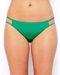 ASOS - Green Lattice Side Bikini Pant - Lyst