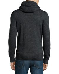 Superdry - Gray Long-sleeve Cowl-neck Hoodie for Men - Lyst