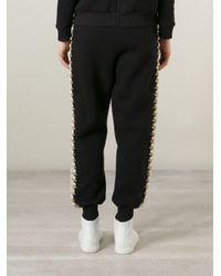 Ashish - Black Embellished Track Pants - Lyst