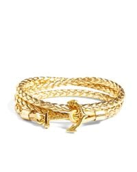Brooks Brothers | Metallic Kiel James Patrick Leather Wrap Bracelet | Lyst