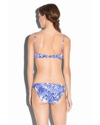 MILLY - Blue Zebra King Maxime Underwire Bikini Top - Lyst