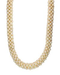 Effy | White Sterling Silver And Freshwater Pearl Necklace | Lyst