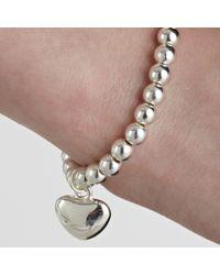 John Lewis - Pink Georgie Bead Heart Bracelet - Lyst