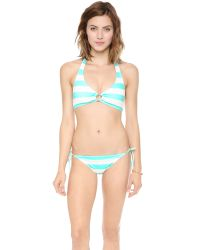 Juicy Couture - Blue Sixties Stripe Bikini Bottoms - Aqua Sky - Lyst