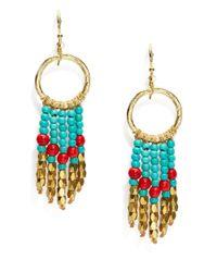 Panacea | Blue Circle Fringe Drop Earrings | Lyst
