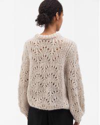 Filippa K - Multicolor Pointelle R-neck Sweater Porcelain - Lyst