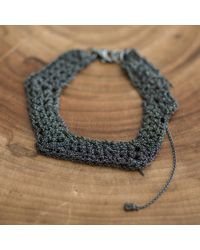 Arielle De Pinto | Gray Zig Zag Bracelet | Lyst