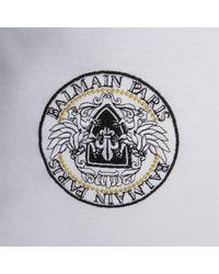 Balmain - White Logo T Shirt for Men - Lyst