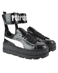 PUMA - Black Ankle Strap Trainers - Lyst