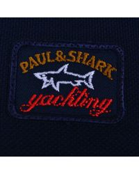 Paul & Shark - Blue Long Long Sleeved Polo Shirt for Men - Lyst
