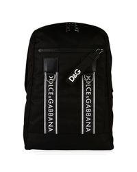 Dolce & Gabbana - Black Tape Logo Backpack for Men - Lyst