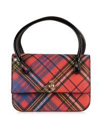 Vivienne Westwood - Red Edinburgh Check Small Bag - Lyst