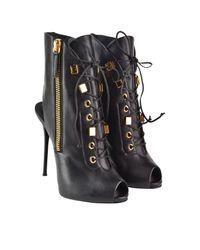 Giuseppe Zanotti - Black Zip Sandal Boots - Lyst
