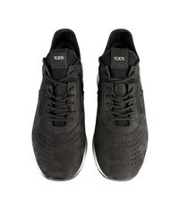 Tod's - Black Stitch Logo Trainers for Men - Lyst
