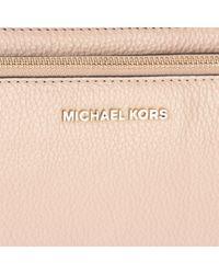 MICHAEL Michael Kors - Natural Adele Leather Cross Body Double Zip Bag - Lyst