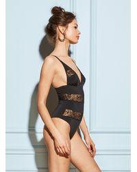 Fleur du Mal - Black Chateau Lace Bodysuit - Lyst