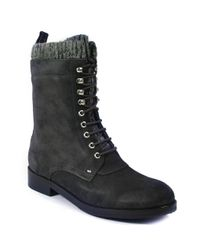 Belle By Sigerson Morrison | Gray Flat Boot | Lyst