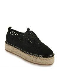 J/Slides   Black Perforated Espadrille Sneaker   Lyst