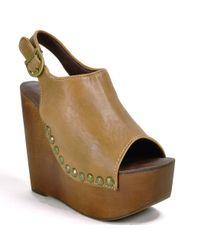 Jeffrey Campbell | Brown Platform Sandal | Lyst