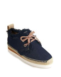 See By Chloé | Blue Tie Espadrille | Lyst