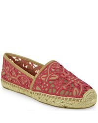 Tory Burch | Natural Lace Espadrille | Lyst