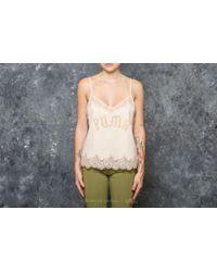 2324e97b9628 Lyst - Footshop Fenty X Rihanna Lace Trim Sleepwear Camisole Pink Tint