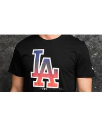 KTZ | West Coast Los Angeles Dodgers Logo Tee Black for Men | Lyst