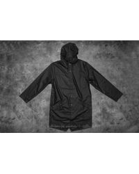 Footshop - Rains Long Jacket Black for Men - Lyst