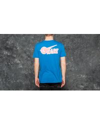 Footshop Pink Dolphin Rare Ghost Tee Neon Blue for men