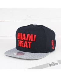 3b5ef093b8a Lyst - Mitchell   Ness Cap Forces Sb Nba Miami Heat for Men