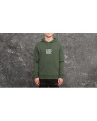 Huf Marka Pullover Fleece Hoodie Green for men