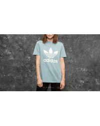 Adidas Originals Gray Adidas Trefoil Tee Ash Grey/ White