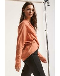 Forever 21 - Multicolor Heathered Wrap-inspired Top - Lyst